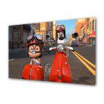 Tablou Canvas cu Ceas Animatie pentru Copii Mr Peaboy si Sherman 2014, 30 x 45 cm