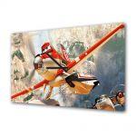 Tablou Canvas cu Ceas Animatie pentru Copii Planes Fire and Rescue 2014, 30 x 45 cm