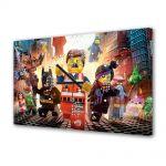 Tablou Canvas cu Ceas Animatie pentru Copii LEGO Movie 2014, 30 x 45 cm