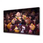 Tablou Canvas cu Ceas Animatie pentru Copii The Peanuts Cinema 2015, 30 x 45 cm
