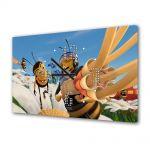 Tablou Canvas cu Ceas Animatie pentru Copii Bee Movie 4, 30 x 45 cm