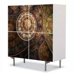 Comoda cu 4 Usi Art Work Abstract Textura eleganta, 84 x 84 cm