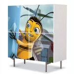 Comoda cu 4 Usi Art Work pentru Copii Animatie Bee Mobie 2007 , 84 x 84 cm