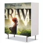 Comoda cu 4 Usi Art Work pentru Copii Animatie Brave 2 , 84 x 84 cm
