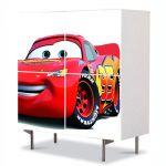 Comoda cu 4 Usi Art Work pentru Copii Animatie Lighning McQueen Cars , 84 x 84 cm