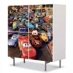 Comoda cu 4 Usi Art Work pentru Copii Animatie Route 66 Cars , 84 x 84 cm