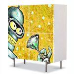 Comoda cu 4 Usi Art Work pentru Copii Animatie Futurama Bender , 84 x 84 cm