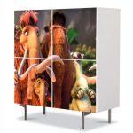 Comoda cu 4 Usi Art Work pentru Copii Animatie Ice Age , 84 x 84 cm