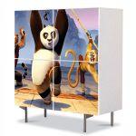 Comoda cu 4 Usi Art Work pentru Copii Animatie Kung Fu Panda 2 The Movie , 84 x 84 cm
