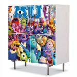 Comoda cu 4 Usi Art Work pentru Copii Animatie Monster University , 84 x 84 cm