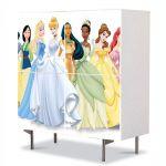 Comoda cu 4 Usi Art Work pentru Copii Animatie Disney Printesa , 84 x 84 cm