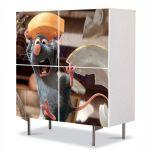 Comoda cu 4 Usi Art Work pentru Copii Animatie Ratatouille Movie , 84 x 84 cm