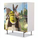 Comoda cu 4 Usi Art Work pentru Copii Animatie Shrek si Magaru , 84 x 84 cm