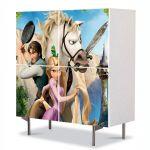 Comoda cu 4 Usi Art Work pentru Copii Animatie Tangled Personaje , 84 x 84 cm