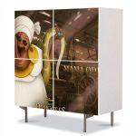 Comoda cu 4 Usi Art Work pentru Copii Animatie Princess and the Frog Mama Odine , 84 x 84 cm