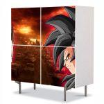 Comoda cu 4 Usi Art Work pentru Copii Animatie Dragon Ball Z Goku vs Vegeta , 84 x 84 cm