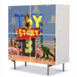 Comoda cu 4 Usi Art Work pentru Copii Animatie Toy Story 4 , 84 x 84 cm