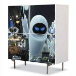 Comoda cu 4 Usi Art Work pentru Copii Animatie WallE si Eve , 84 x 84 cm