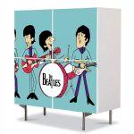 Comoda cu 4 Usi Art Work pentru Copii Animatie The Beatles , 84 x 84 cm