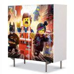 Comoda cu 4 Usi Art Work pentru Copii Animatie LEGO Movie 2014 , 84 x 84 cm