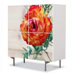 Comoda cu 4 Usi Art Work Flori Flori persane, 84 x 84 cm