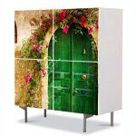 Comoda cu 4 Usi Art Work Flori Poarta de flori, 84 x 84 cm