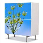 Comoda cu 4 Usi Art Work Flori Chimen dulce, 84 x 84 cm