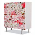 Comoda cu 4 Usi Art Work Flori Petale care plutesc, 84 x 84 cm