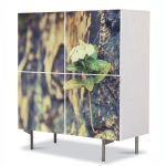 Comoda cu 4 Usi Art Work Flori Vointa, 84 x 84 cm