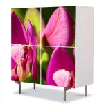 Comoda cu 4 Usi Art Work Flori Flori in lumina soarelui, 84 x 84 cm