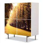 Comoda cu 4 Usi Art Work Peisaje Drum pavat, 84 x 84 cm