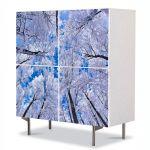 Comoda cu 4 Usi Art Work Peisaje In sus iarna, 84 x 84 cm