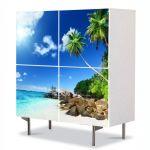 Comoda cu 4 Usi Art Work Peisaje Pe faleza, 84 x 84 cm