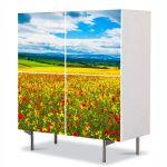 Comoda cu 4 Usi Art Work Peisaje De la pamant la cer, 84 x 84 cm