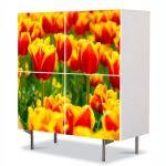 Comoda cu 4 Usi Art Work Peisaje Lalele in 2 culori, 84 x 84 cm