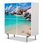 Comoda cu 4 Usi Art Work Peisaje Apa limpede, 84 x 84 cm
