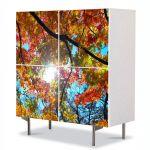 Comoda cu 4 Usi Art Work Peisaje Sub cer, 84 x 84 cm