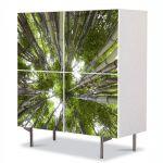 Comoda cu 4 Usi Art Work Peisaje Brazi, 84 x 84 cm