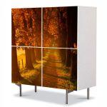 Comoda cu 4 Usi Art Work Peisaje Carare, 84 x 84 cm