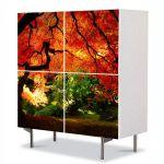 Comoda cu 4 Usi Art Work Peisaje Suprearealist 2, 84 x 84 cm