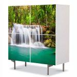 Comoda cu 4 Usi Art Work Peisaje Cascada mica, 84 x 84 cm