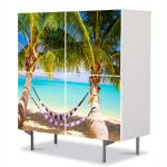 Comoda cu 4 Usi Art Work Peisaje Hamac, 84 x 84 cm