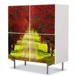 Comoda cu 4 Usi Art Work Peisaje Drum la vale, 84 x 84 cm
