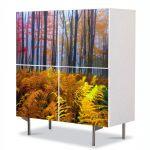 Comoda cu 4 Usi Art Work Peisaje Veriga in padure, 84 x 84 cm