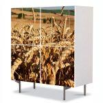 Comoda cu 4 Usi Art Work Peisaje Spice ingramadite, 84 x 84 cm