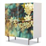 Comoda cu 4 Usi Art Work Peisaje Copac inflorit, 84 x 84 cm