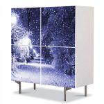 Comoda cu 4 Usi Art Work Peisaje Ninge, 84 x 84 cm