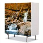 Comoda cu 4 Usi Art Work Peisaje Cascada lina, 84 x 84 cm
