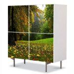 Comoda cu 4 Usi Art Work Peisaje Spre cabana, 84 x 84 cm