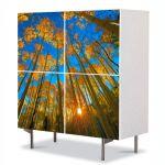 Comoda cu 4 Usi Art Work Peisaje In sus pe cer, 84 x 84 cm